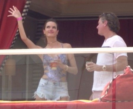 EXCLUSIVE: **PREMIUM RATES APPLY** Alessandra Ambrosio parties with pal Jimmy Sommers in Las Vegas, Nevada.