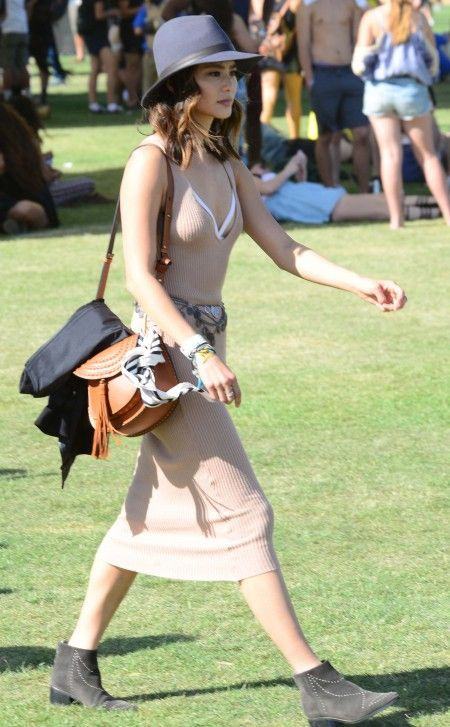 Jamie Chung on day 1 of the Coachella Music Festival in Indio, Ca