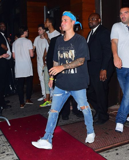 EXCLUSIVE: Justin Bieber Parties at 1 Oak in NYC as his US Purpose Tour comes to an End at MSG