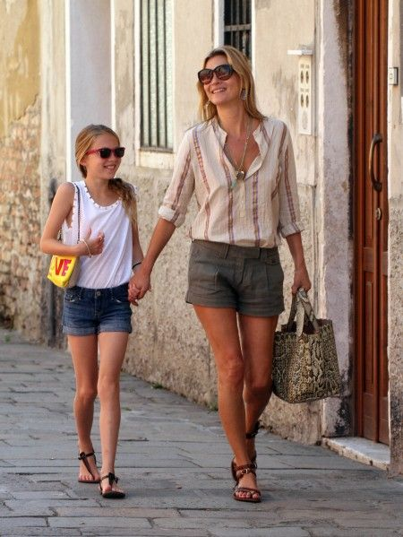 EXCLUSIVE: Kate Moss and Lila Grace in Venice, Italy