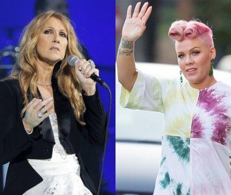 セリーヌ(左)とピンク(右)。