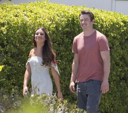lea michele and Robert Buckley