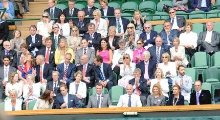 Princess Catherine and Prince William at Wimbledon 2012, day nine