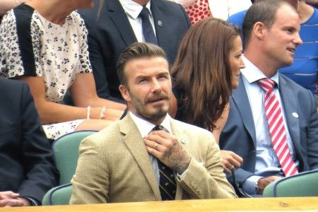 David Beckham leads a host of sporting celebrities at Wimbledon Royal Box