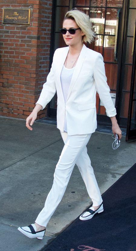 クリステン・スチュワート Kristen Stewart  白 オールホワイト スーツ ファッション