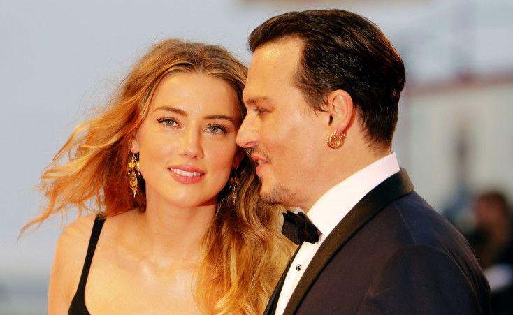 アンバー・ハード、ジョニー・デップ、ヴェニス国際映画祭、2015年9月4日、Johnny Depp, Amber Heard