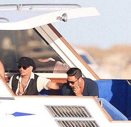 ジョニー・デップ Johnny Depp  イビサ スペイン ヨット