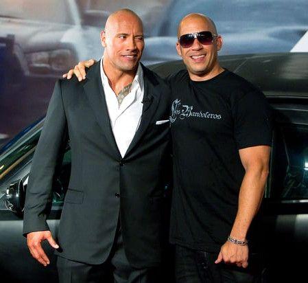 ドウェイン・ジョンソン Dwayne Johnson ヴィン・ディーゼル Vin Diesel 映画 ワイルド・スピード