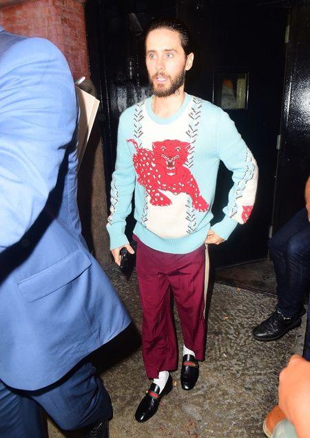 ジャレッド・レト、Gucciのセーターで映画『スーサイド・スクワッド』のPR