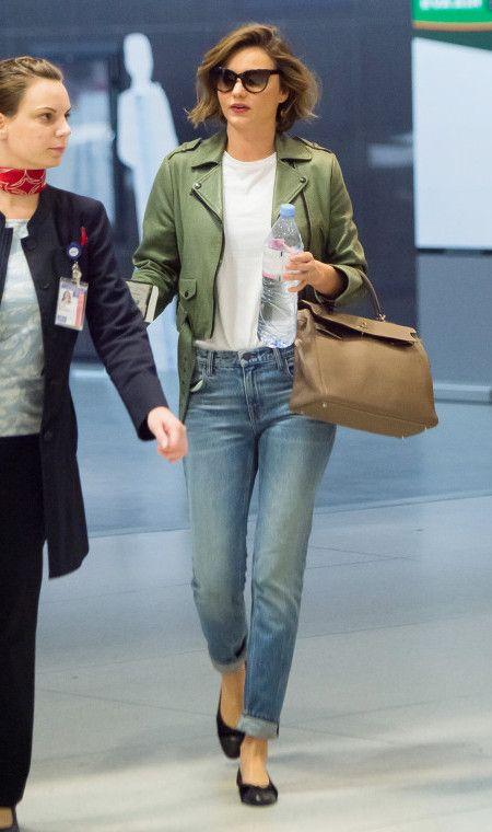 ミランダ・カー Miranda Kerr 空港 旅 ファッション