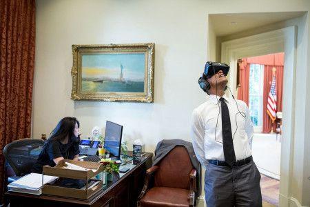 ホワイトハウスが公開したオリジナル写真。
