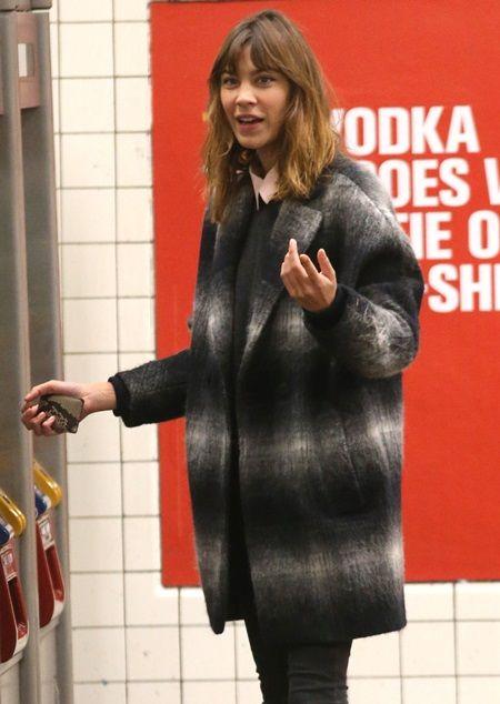 EXCLUSIVE: Alexa Chung rides the subway, NYC