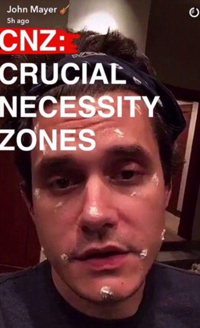 ジョン・メイヤー John Mayer スキンケア スナップチャット 集中ケア