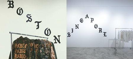 Kanye West  カニエ・ウェスト popup shop  ポップアップストア ボストン シンガポール 内装