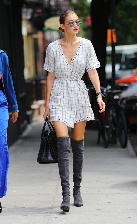 ジジ・ハディッド Gigi Hadid サイハイブーツ ブーツ モデル ファッション