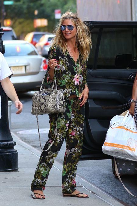 ハイディ・クルム Heidi Klum パジャマ パジャマ風ファッション フローラル柄