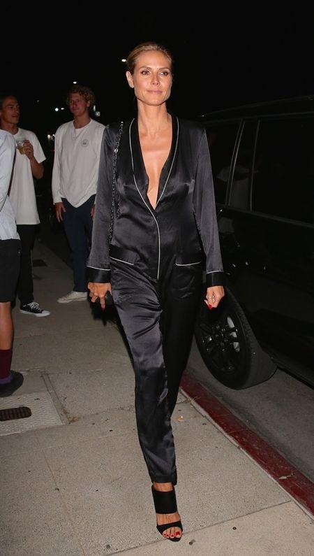 ハイディ・クルム Heidi Klum パジャマ パジャマ風ファッション