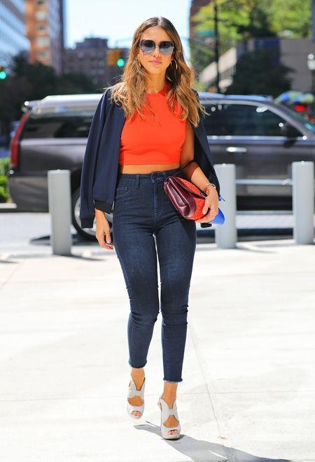 ジェシカ・アルバ Jessica Alba ファッションウィーク NY Tory Burch トリバーチ セレブ ファッション 9月