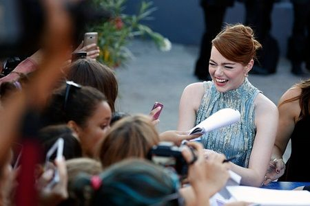 エマ・ストーン 第73回ヴェネツィア映画祭 映画『ラ・ラ・ランド』 プレミア Emma Stone opening ceremony premiere 'La La Land' 73rd Venice Film Festival at Sala Grande on August 31, 2016 in Venice, Italy.
