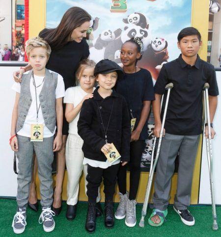 アンジェリーナ・ジョリー Angelina Jolie  子供たち