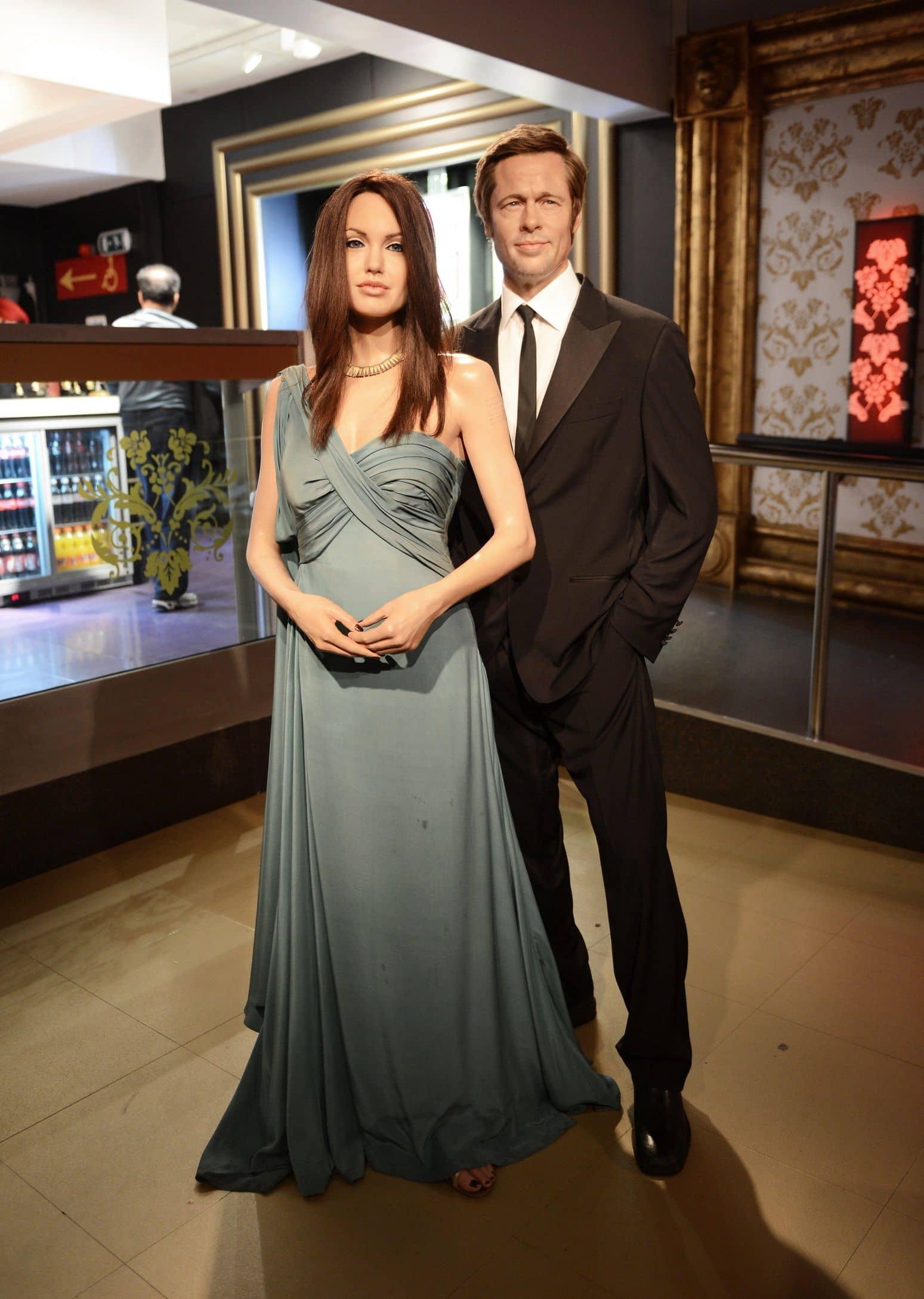アンジェリーナ・ジョリー Angelina Jolie ブラッド・ピット Brad Pitt ろう人形