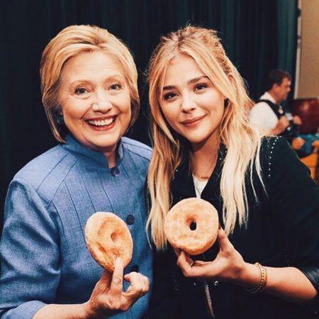 クロエ・モレッツ Chloe Moretz ヒラリー・クリントン Hilary Clinton  チートデイ ドーナツ