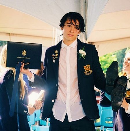 高校の卒業式の写真。