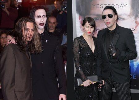 (左)2001年映画『ブロウ』のプレミア (右)2014年映画『トランセンデンス』のプレミア