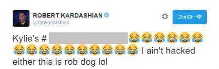 ロバート・カーダシアン Robert Kardashian ツイート