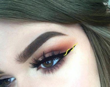 ribbon eyeliner リボンアイライナー イエロー