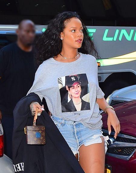 リアーナ Rihanna  ヒラリー・クリントン Hillary Clinton  Tシャツ 無言で支持 おしゃれ オーバーサイズT NY 第三回大統領候補討論会