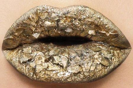 パイライト Pyrite天然石 リップアート 宝石リップ