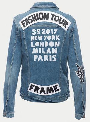 フレーム Frame デニムブランド デニムジャケット ワッペン 被りアイテム 人気 海外セレブ ファッション