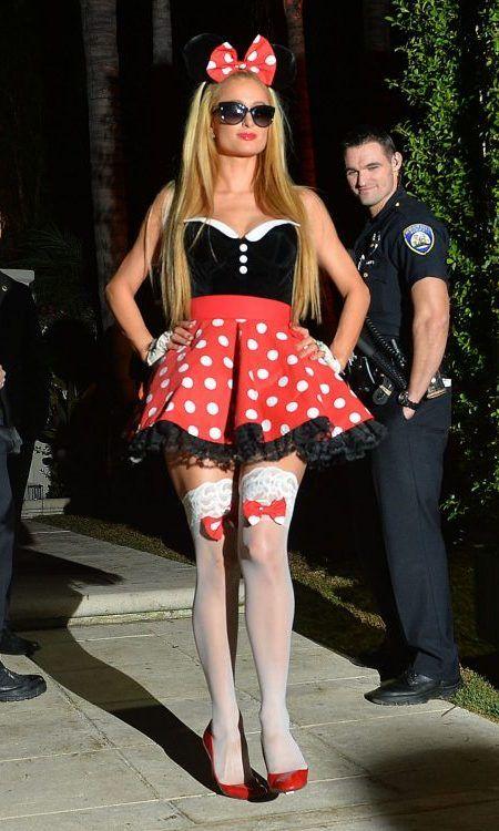 パリス・ヒルトン Paris Hilton  ハロウィン コスチューム ミニーマウス ディズニー