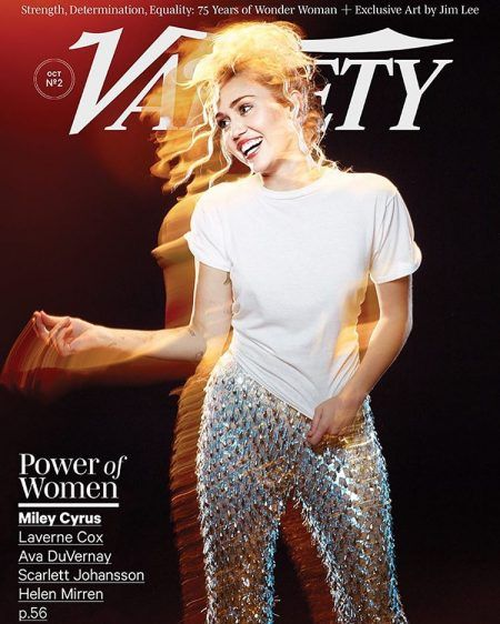 Variety誌の表紙を飾ったマイリー。