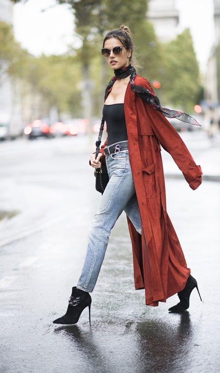 アレッサンドラ・アンブロジオ Alessandra Ambrosio  ファッション 秋 コーデ