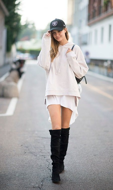 ジョセフィン・スクリヴァー Josephine Skriver ファッション 秋 コーデ