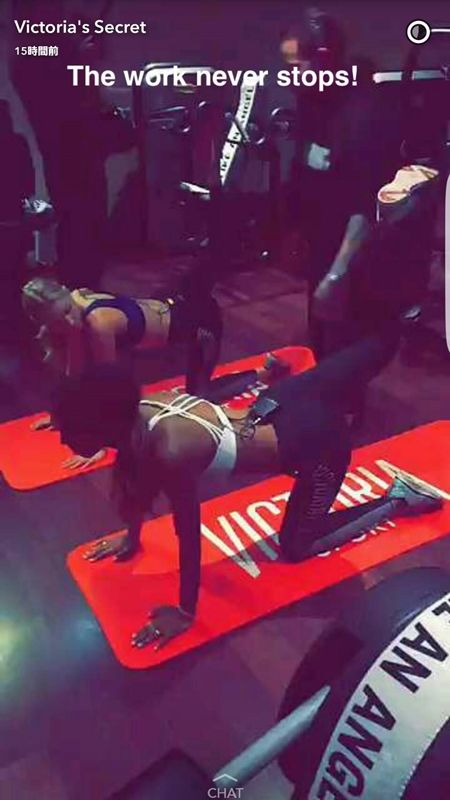 Victoria's Secret ヴィクトリアズ・シークレット ファッションショー パリ 前日もトレーニング  トレーニング 最終チェック 体を鍛える ヴィクトリア・スポーツ Victoria Sports