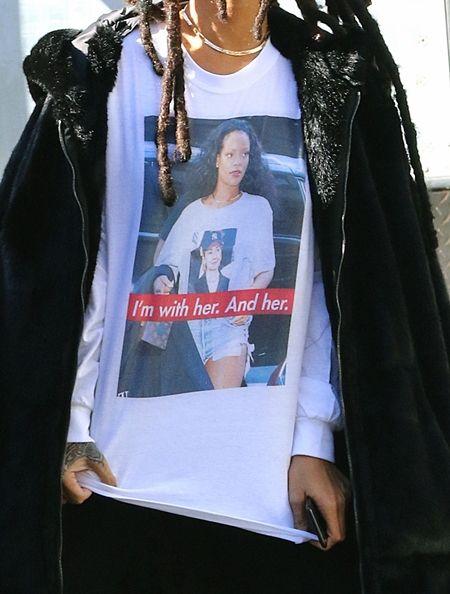 リアーナ Rihanna  アメリカ大統領選挙 ヒラリー・クリントン 応援 支持 プリントTシャツ プリントスウェット