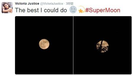 ヴィクトリア・ジャスティス Victoria Justice スーパームーン エクストラスーパームーン セレブ 女優 インスタグラム 68年ぶり 海外