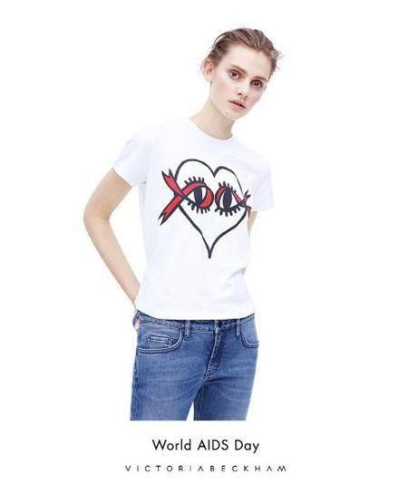 ヴィクトリア・ベッカム Victoria Beckham UNAIDS 国連合同エイズ連合 チャリティTシャツ チャリティサングラス 2014年から ハーパーちゃんデザイン 娘 デザイン 2015年