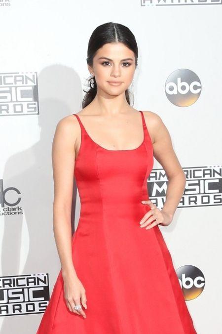 セレーナ・ゴメス Selena Gomez アメリカン・ミュージック・アワード AMA Prada プラダ ドレス カルティエ イヤリング 3ヶ月ぶりに登場 病気 全身エリテマトーデス