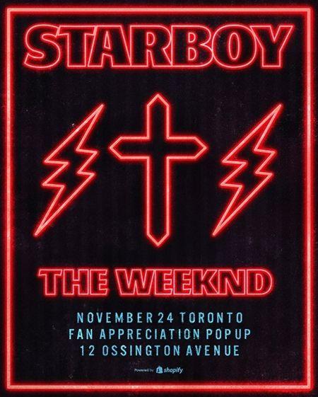 ザ・ウィークエンド The Weeknd ポップアップストア ポップアップショップ 原宿 東京 11月25日から11月27日まで 限定 日本限定商品 ポップアップストア中 キャップ スターボーイ Starboy 発売記念 ラフォーレ原宿 GR8