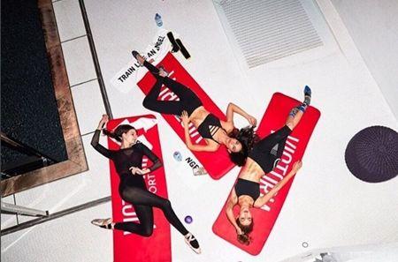 リリー・オルドリッジ Lily Aldridge ジジ・ハディッド Gigi Hadid Victoria's Secret ヴィクトリアズ・シークレット ファッションショー パリ 前日もトレーニング バレービューティフル トレーニング 最終チェック 体を鍛える
