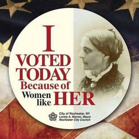 スーザン・B・アンソニー 大統領選 I Voted 墓石 ひらりー・クリントン