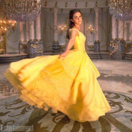 エマ・ワトソン Emna Watson 美女と野獣 実写版 ドレス