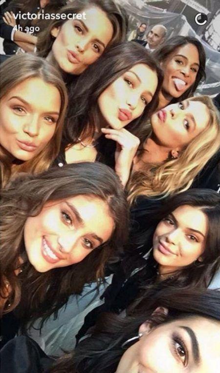 ベラ・ハディッド Bella Hadid ケンダル・ジェナー Kendall Jenner  Victoria's Secret ヴィクシーファッションショー プレスイベント