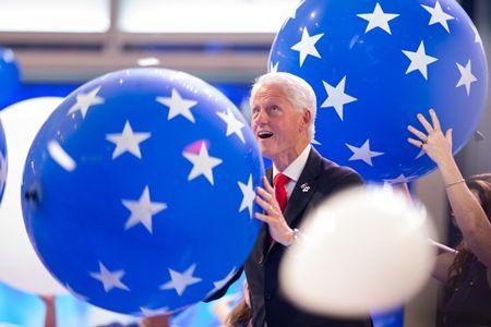 ビル・クリントン Bill Clinton ボール遊び 民主党大会