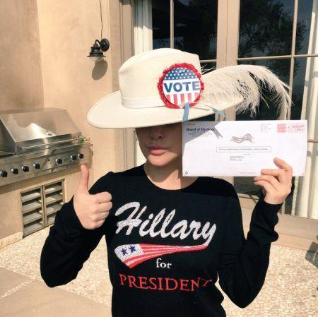 レディー・ガガ Lady Gaga アメリカ 大統領選挙 投票
