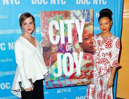 エマ・ワトソン Emma Watson 映画『シティ・オブ・ジョイ』 ニューヨークプレミア